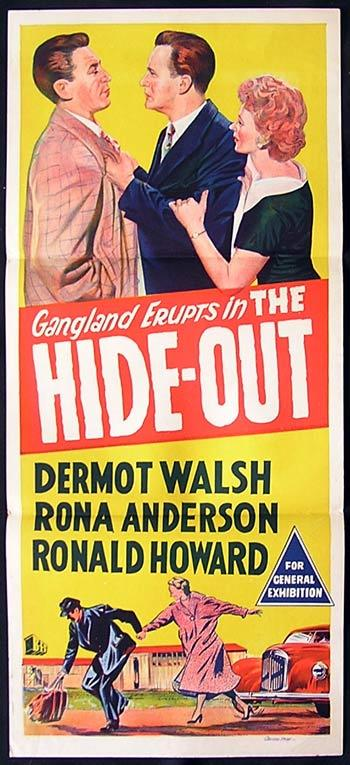 HIDE-OUT Daybill Movie Poster Dermott Walsh Film Noir HIDE-OUT