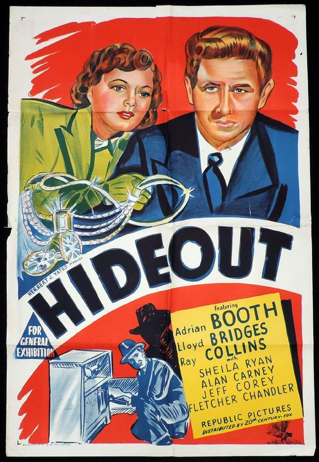 HIDEOUT One Sheet Movie Poster Lloyd Bridges Film Noir