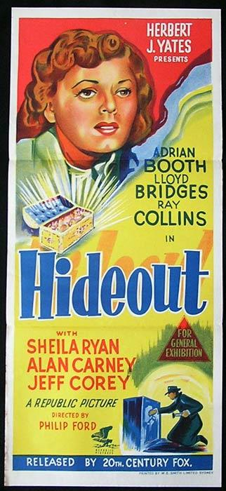 HIDEOUT Daybill Movie Poster Gene Lloyd Bridges