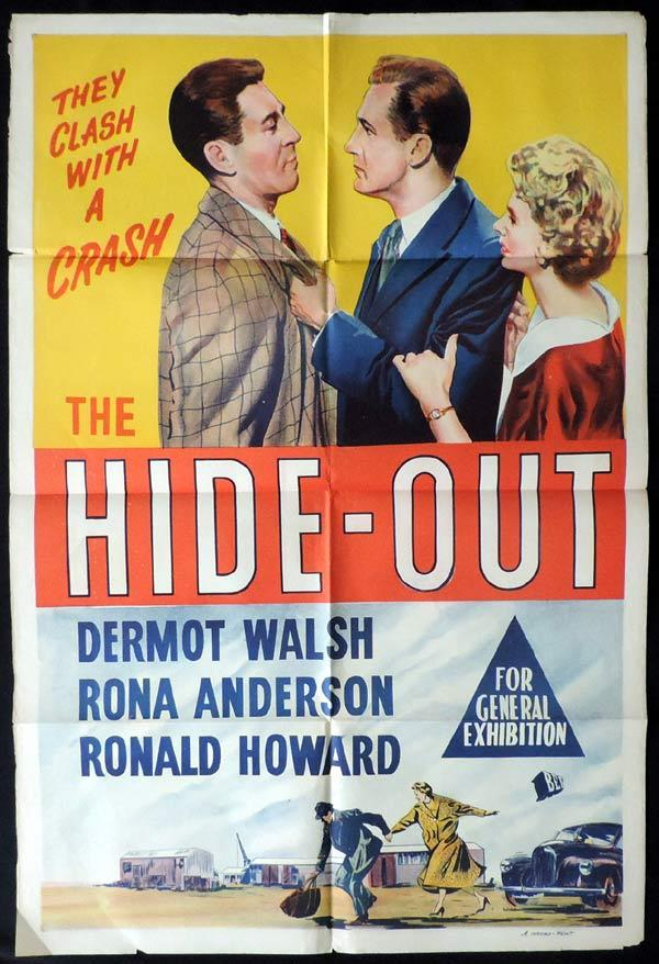 THE HIDEOUT One Sheet Movie Poster Dermott Walsh Film Noir HIDE-OUT