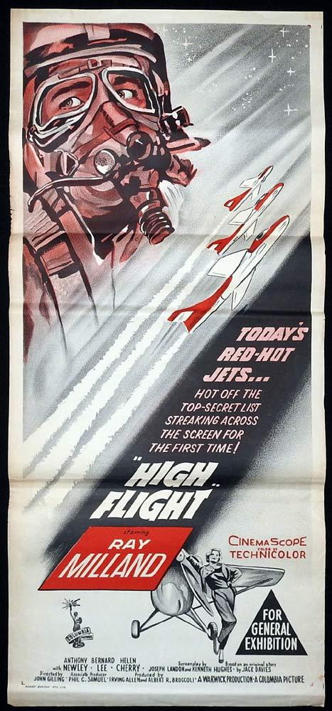 HIGH FLIGHT Daybill Movie Poster Ray Milland Western