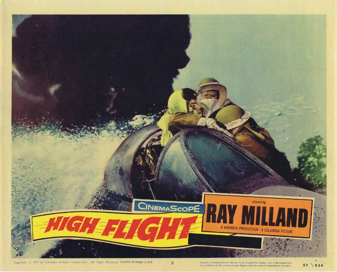 HIGH FLIGHT Lobby Card 8 Ray Milland Kenneth Haigh Anthony Newley