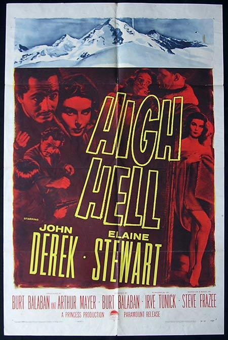 HIGH HELL Original One sheet Movie poster John Derek Elaine Stewart