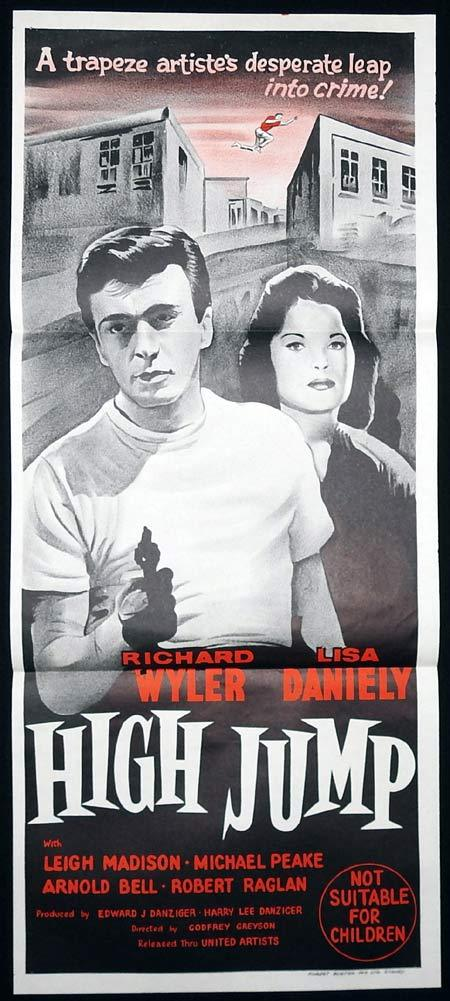 HIGH JUMP Original Daybill Movie Poster Richard Wyler Lisa Daniely