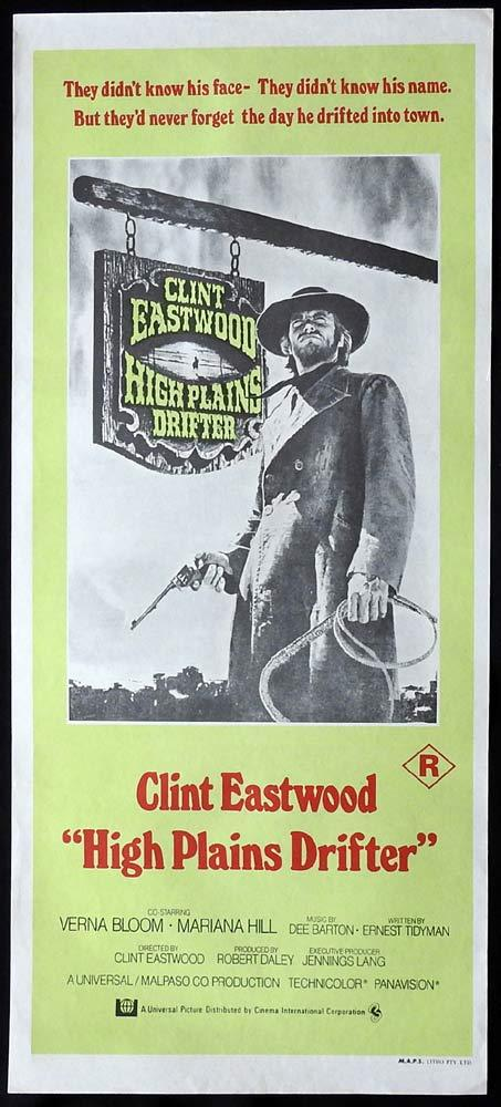 HIGH PLAINS DRIFTER Original Daybill Movie poster Clint Eastwood Verna Bloom