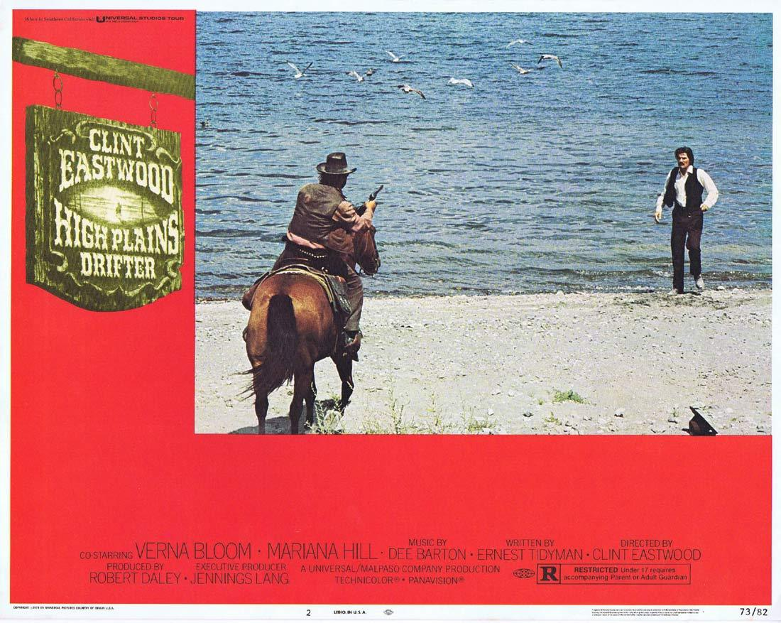 HIGH PLAINS DRIFTER Lobby Card 2 Clint Eastwood