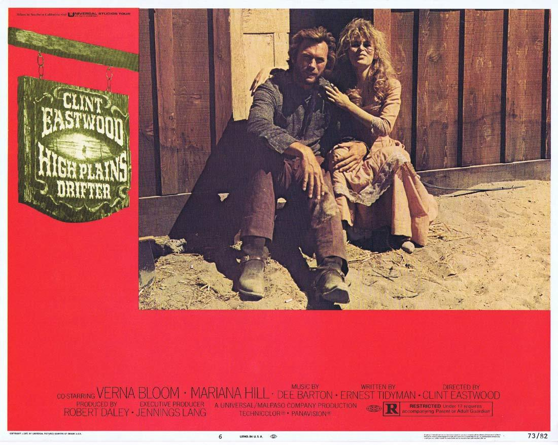 HIGH PLAINS DRIFTER Lobby Card 6 Clint Eastwood