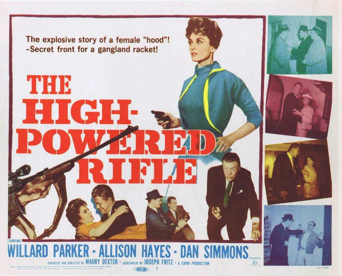 THE HIGH POWERED RIFLE Title Lobby Card 1960 Bad Girl