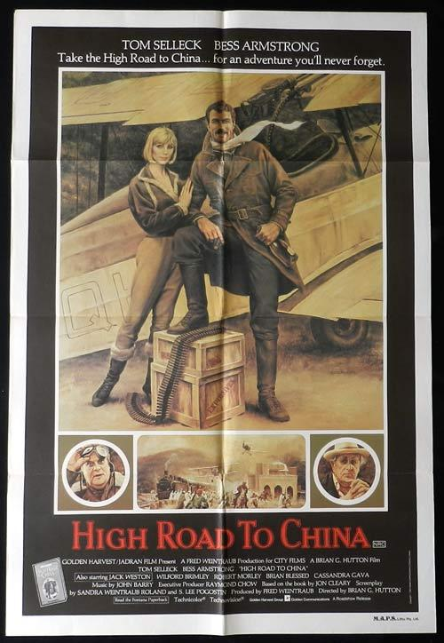 HIGH ROAD TO CHINA Original One sheet Movie poster Tom Selleck