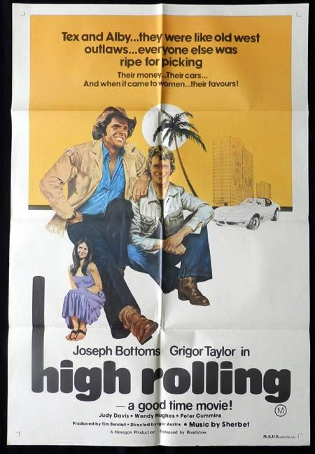 HIGH ROLLING 1977 Bottoms Judy Davis Wendy Hughes One Sheet