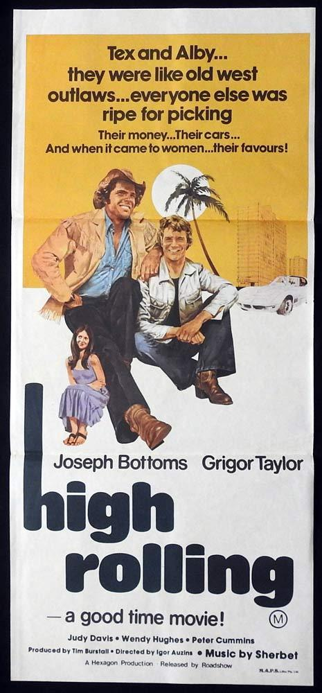 HIGH ROLLING Daybill Movie Poster Joseph Bottoms Grigor Taylor
