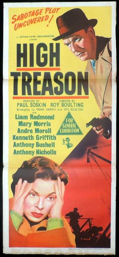 HIGH TREASON Daybill Movie poster Liam Redmond