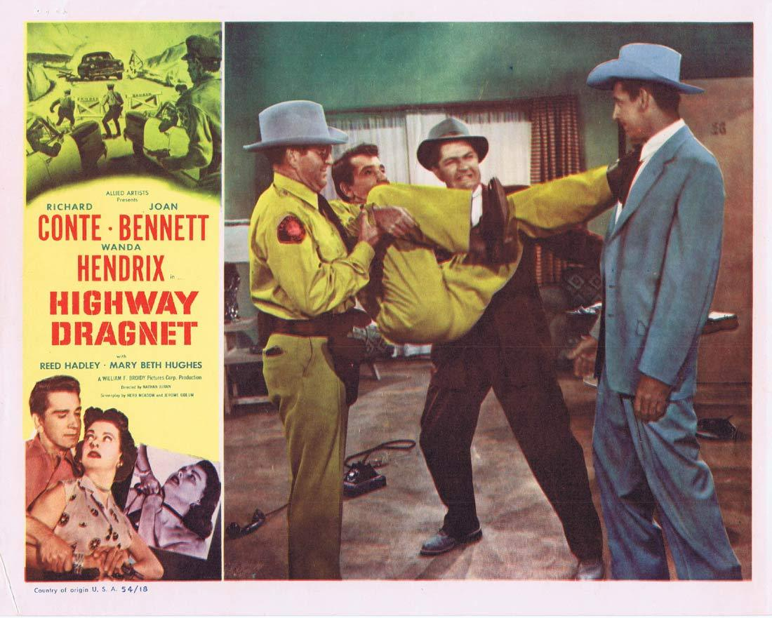 HIGHWAY DRAGNET Original Lobby Card 4 Richard Conte Joan Bennet