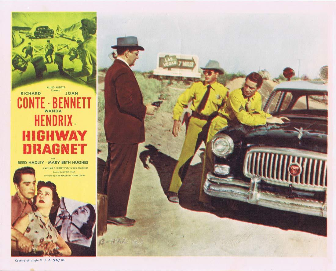 HIGHWAY DRAGNET Original Lobby Card 5 Richard Conte Joan Bennet