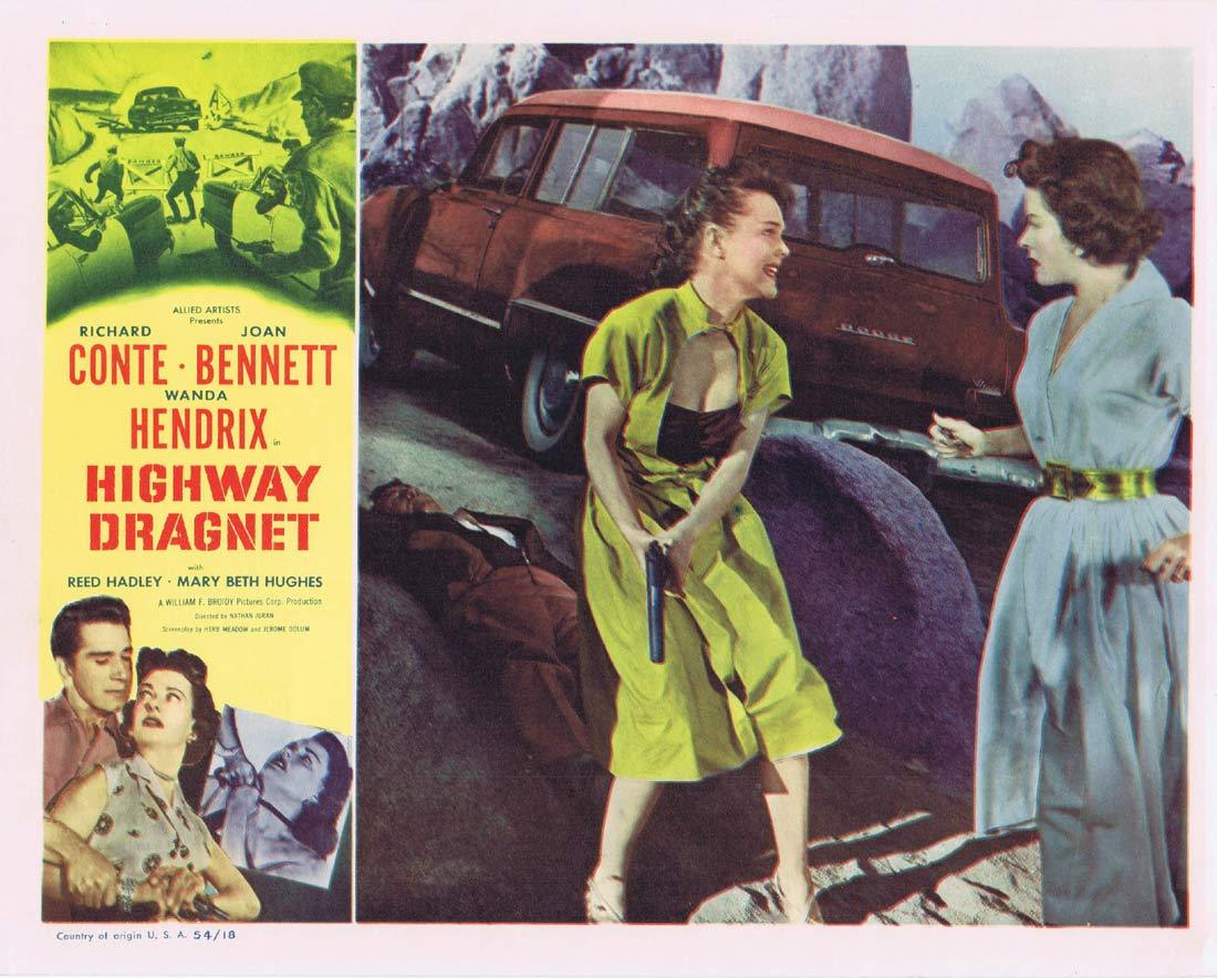 HIGHWAY DRAGNET Original Lobby Card 6 Richard Conte Joan Bennet