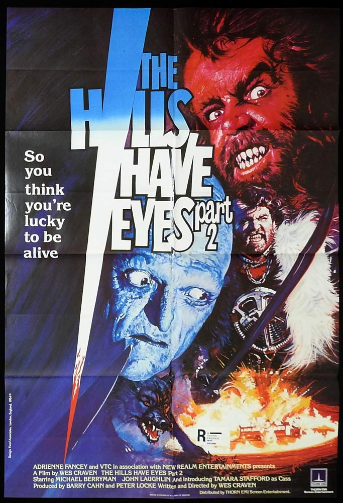 THE HILLS HAVE EYES Part 2 British One Sheet Movie Poster Wes Craven Horror