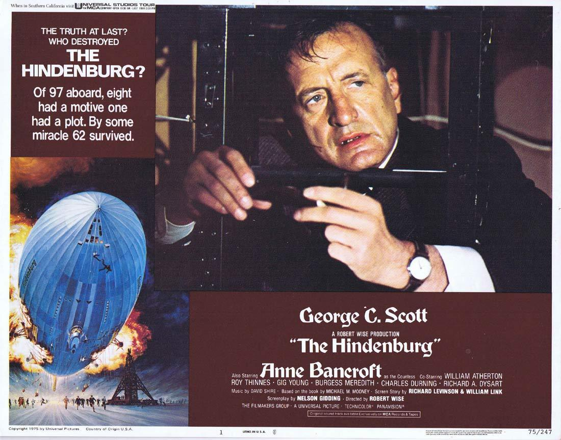 THE HINDENBURG Lobby Card 1 George C. Scott  Anne Bancroft