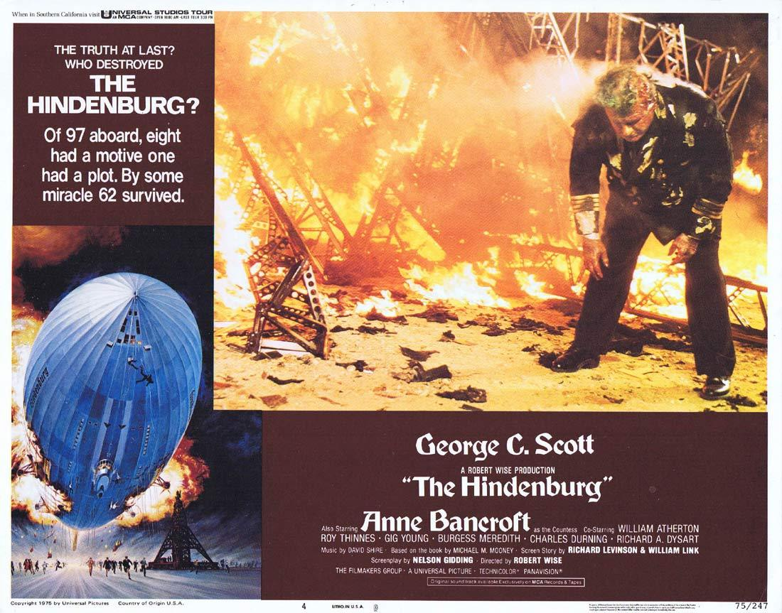 THE HINDENBURG Lobby Card 4 George C. Scott  Anne Bancroft