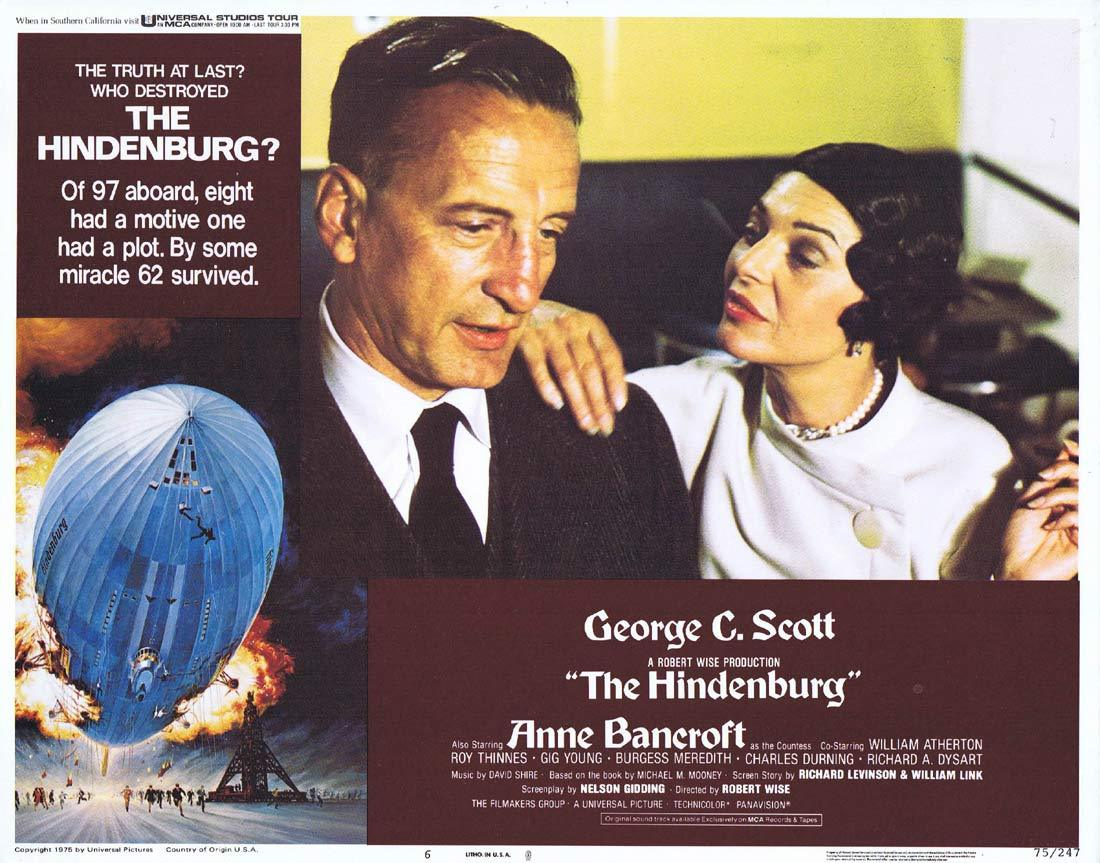 THE HINDENBURG Lobby Card 6 George C. Scott  Anne Bancroft
