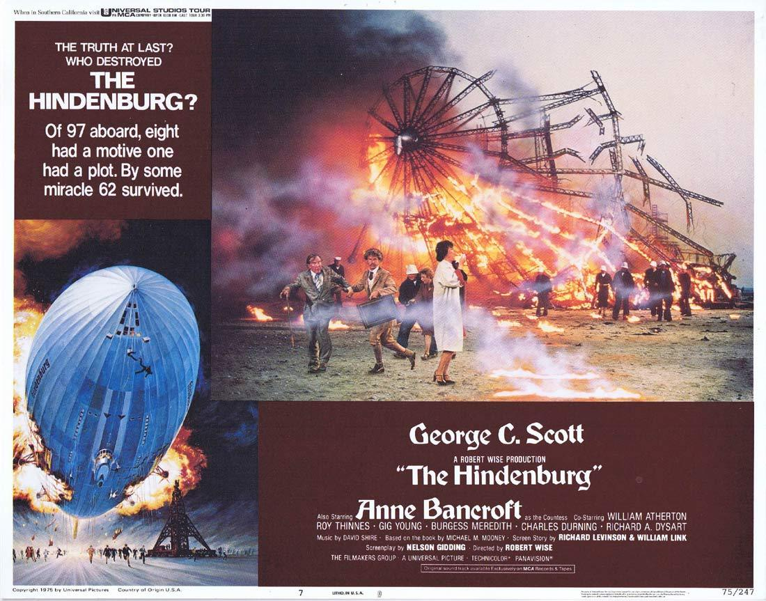 THE HINDENBURG Lobby Card 7 George C. Scott  Anne Bancroft