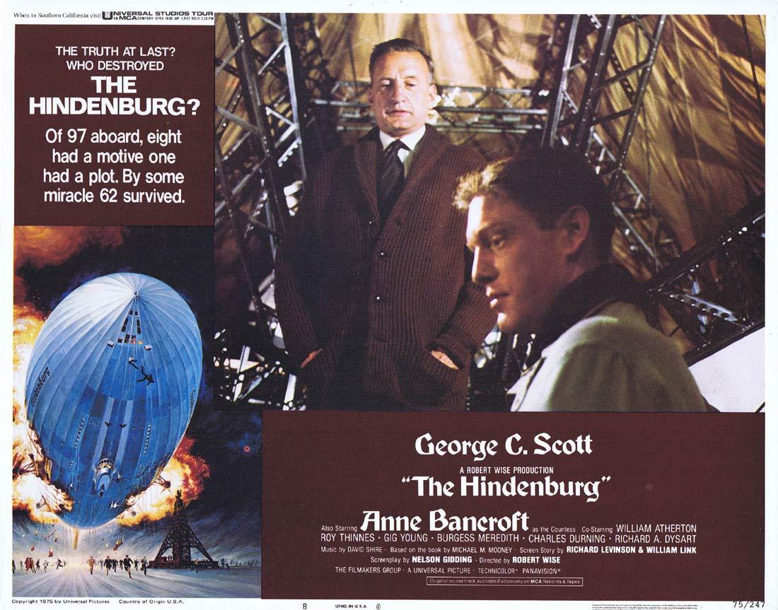 THE HINDENBURG Lobby Card 8 George C. Scott  Anne Bancroft