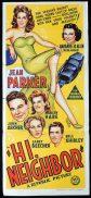 HI NEIGHBOR Original Daybill Movie Poster 1942 Jean Parker