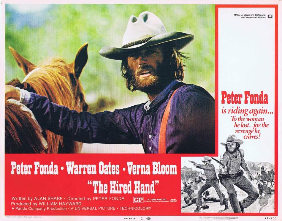 THE HIRED HAND Lobby Card 2 Peter Fonda Warren Oates Verna Bloom