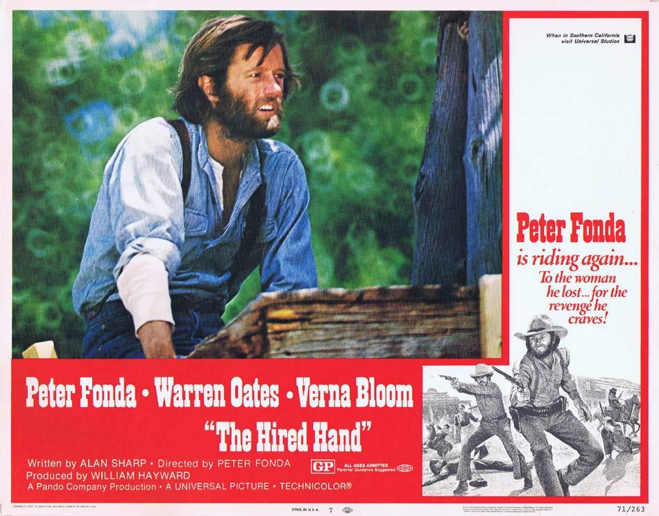THE HIRED HAND Lobby Card 7 Peter Fonda Warren Oates Verna Bloom