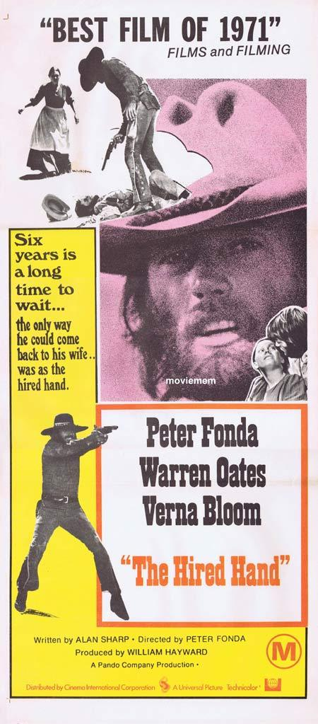 THE HIRED HAND Original Daybill Movie poster Peter Fonda Warren Oates
