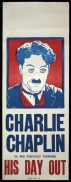 HIS DAY OUT Long Daybill Movie poster c1918 Charlie Chaplin Billy West