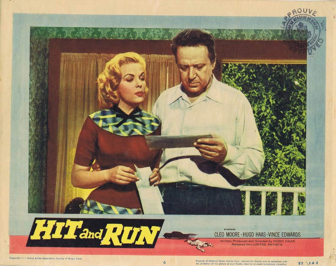 HIT AND RUN Vintage Lobby Card 6 Cleo Moore Hugo Haas Film Noir