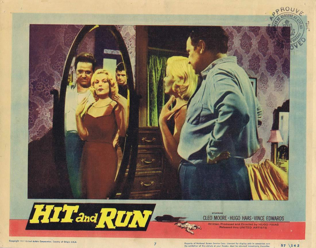 HIT AND RUN Vintage Lobby Card 7 Cleo Moore Hugo Haas Film Noir