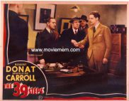 39 STEPS '35-Hitchcock REPRO Lobby card #1
