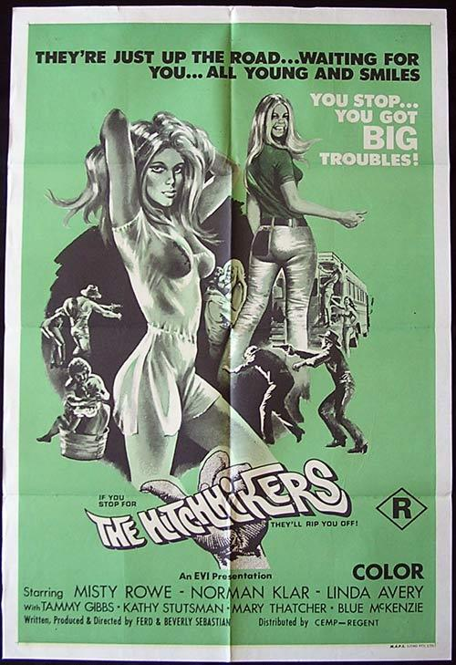 THE HITCHHIKERS Original One sheet Movie poster Misty Rowe Nick Klar Linda Avery