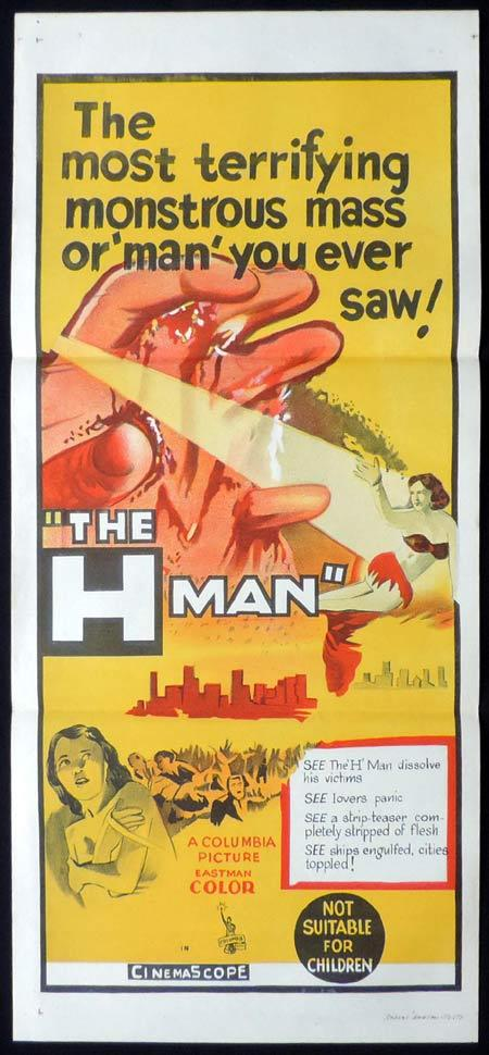 THE H MAN Original daybill Movie poster Ishiro Honda Sci FI
