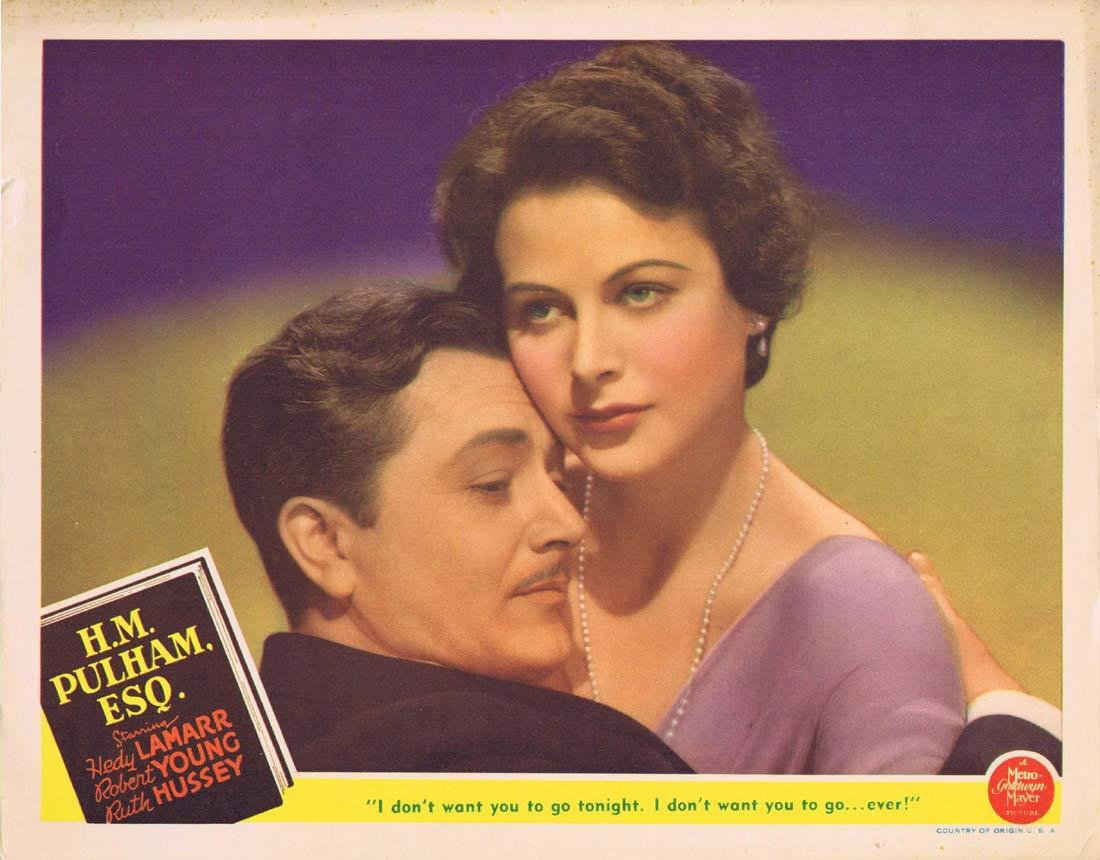 HM PULHAM ESQ Lobby Card 1941 Hedy Lamarr Robert Young Ruth Hussey
