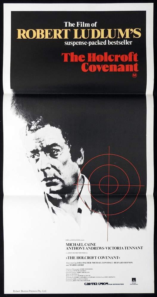 THE HOLCROFT COVENANT Original Daybill Movie poster MICHAEL CAINE Robert Ludlum
