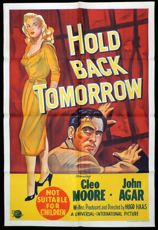 HOLD BACK TOMORROW One Sheet Movie Poster Cleo Moore Film Noir