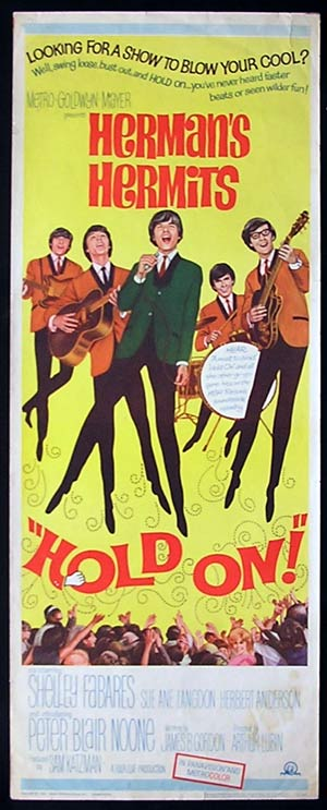 HOLD ON! '66-Herman's Hermits ORIGINAL US Insert poster