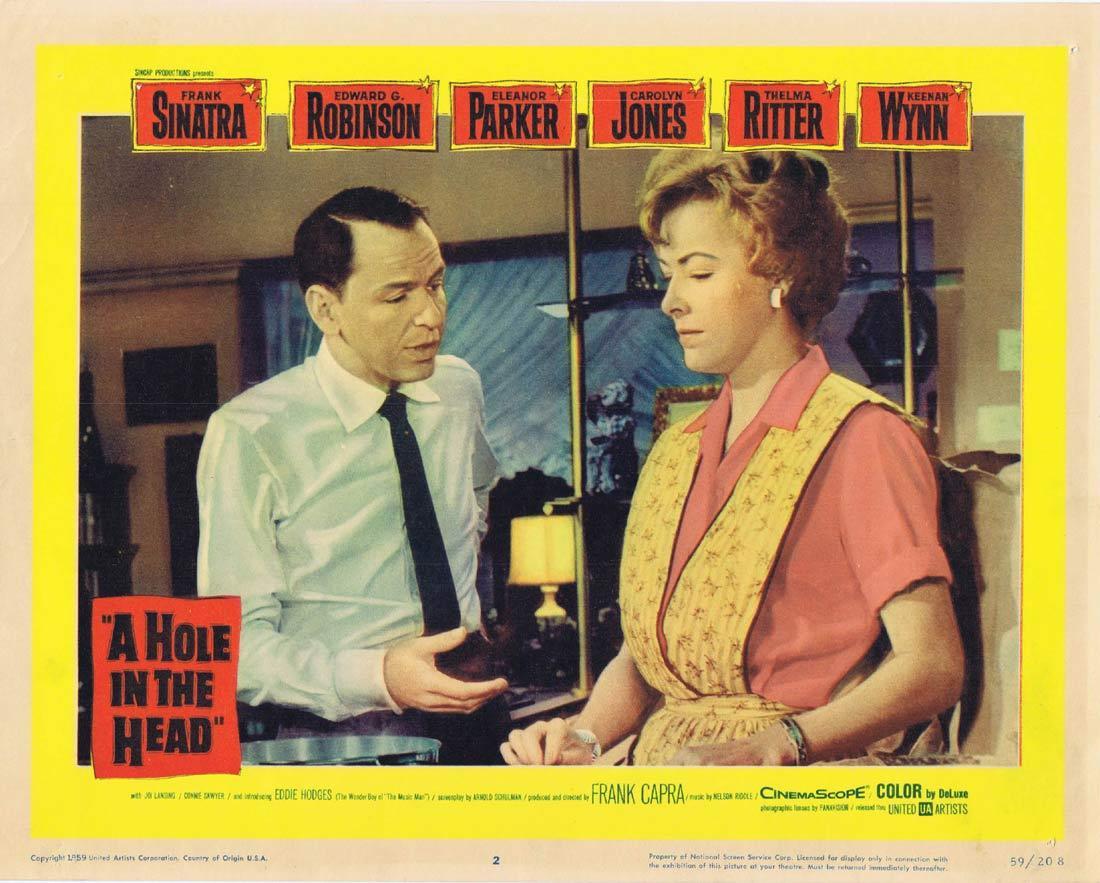 A HOLE IN THE HEAD Lobby card 2 Frank Sinatra Edward G. Robinson Eleanor Parker