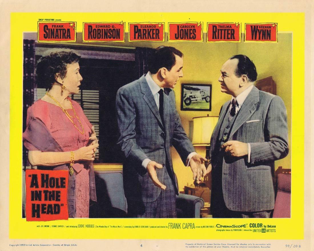 A HOLE IN THE HEAD Lobby card 4 Frank Sinatra Edward G. Robinson Eleanor Parker
