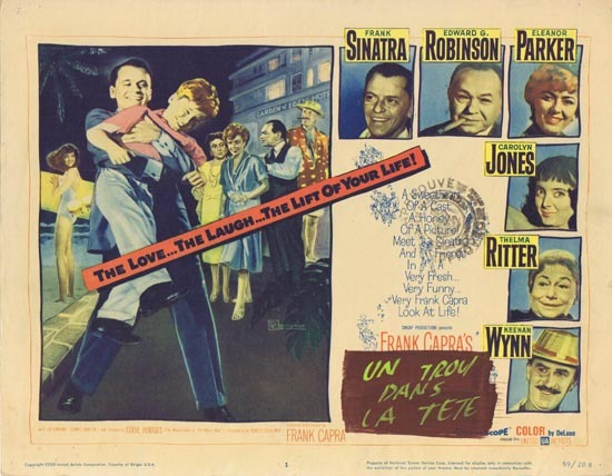 A HOLE IN THE HEAD 1959 Title Lobby Card Frank Sinatra