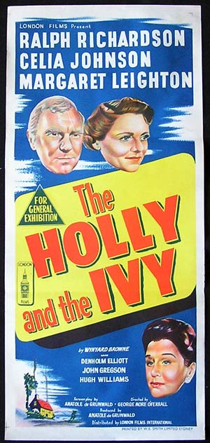 THE HOLLY AND THE IVY '52-Ralph Richardson-XMAS poster