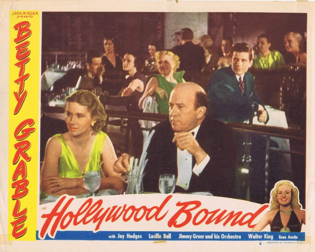 HOLLYWOOD BOUND Lobby Card Betty Grable Gene Austin Russ Hall