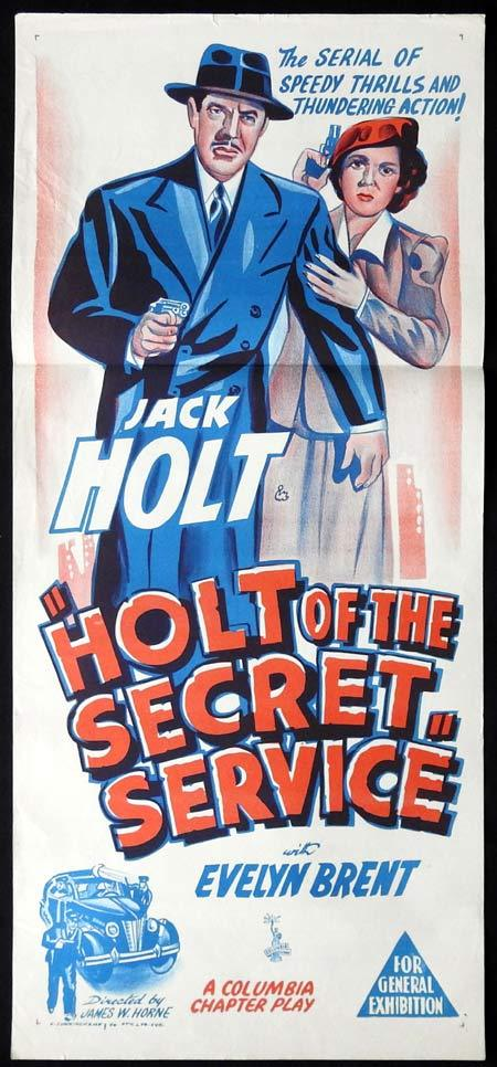 HOLT OF THE SECRET SERVICE Original Daybill Movie Poster Jack Holt Evelyn Brent Serial