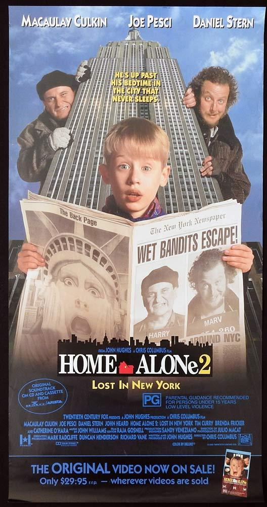 HOME ALONE 2 LOST IN NEW YORK Original Daybill Movie poster Macaulay Culkin