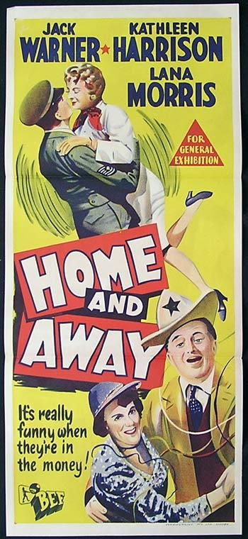 HOME AND AWAY Original Daybill Movie Poster 1956 Jack Warner