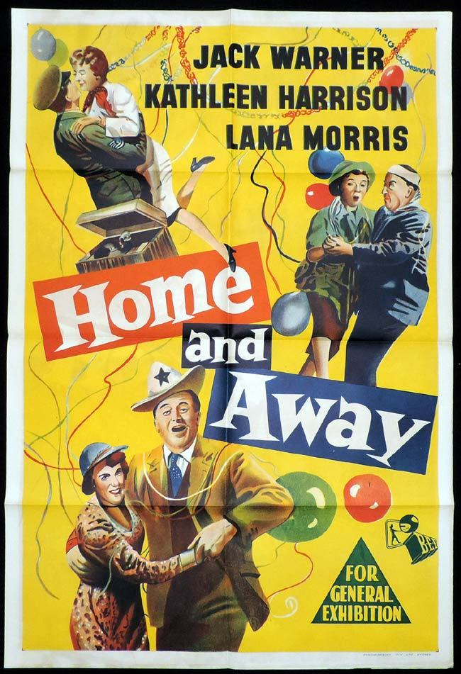 HOME AND AWAY One Sheet Movie Poster Thora Hird Jack Warner