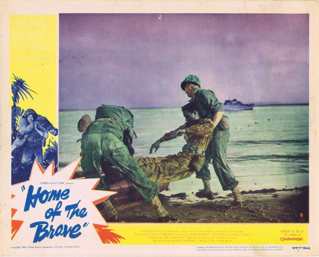 HOME OF THE BRAVE Original Lobby Card 8 Jeff Corey James Edwards