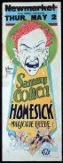 HOMESICK Long Daybill Movie Poster 1928 Sammy Cohen Vintage Tom Ferry art